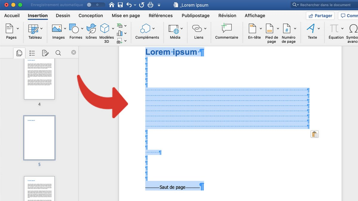 Comment supprimer une page sur word ?
